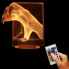 3D DECOR The Dragon Claw Optical Led Night Light 3D Bulbing Table Lamp Illusion Magic Night Decor-Dollar Bargains Online Shopping Australia
