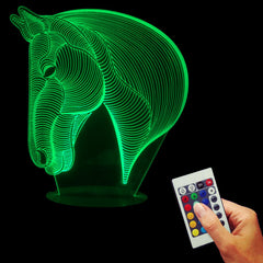 Novelty Horse 3D Night Light For Kids Animal Led Table lamp Led Light Bulbing Lamp Home Decor-Dollar Bargains Online Shopping Australia