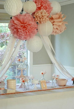 Decorative Large Tissue Paper Pom Poms Flower Balls Wedding Party-Dollar Bargains Online Shopping Australia