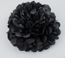 BlackDecorative Large Tissue Paper Pom Poms Flower Balls Wedding Party