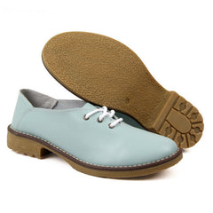 Summer Women Oxfords Genuine Leather Shoes Lace Up Flats Woman flat Ladies cow muscle good quality Zapatos Mujer J4358-Dollar Bargains Online Shopping Australia