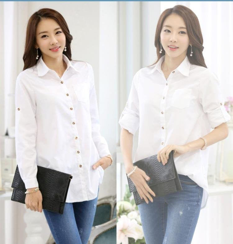 Blouse A / SBrand Spring Blouse Shirt Cardigans White Blusas Femininas Ladies Body Tops Women Office Clothing Female Casual Woman Clothes