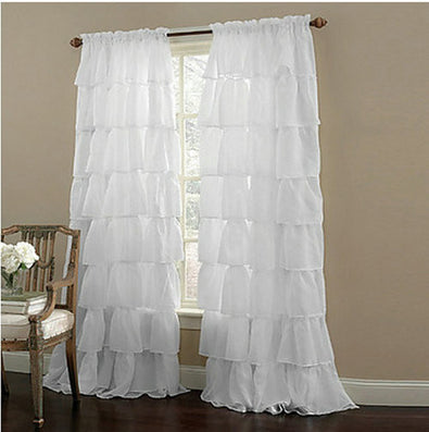 New Ruffle Rod Pocket Organza Window Curtain For Living Room (One Panel)-Dollar Bargains Online Shopping Australia