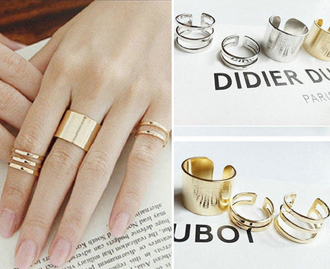 3Pcs/Set Fashion Top Of Finger Over The Midi Tip Finger Above The Knuckle Open Ring 01VW 35P5-Dollar Bargains Online Shopping Australia