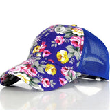 The new female floral hat baseball cap mesh cap spring and summer sports and leisure sun visor sun hat snapback cap - Dollar Bargains - 6