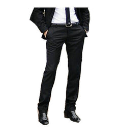 New Men Pants Spring and Autumn Men's Slim Fit Casual Pants Fashion Straight Suit Pants Skinny Pants Smooth Trousers-Dollar Bargains Online Shopping Australia