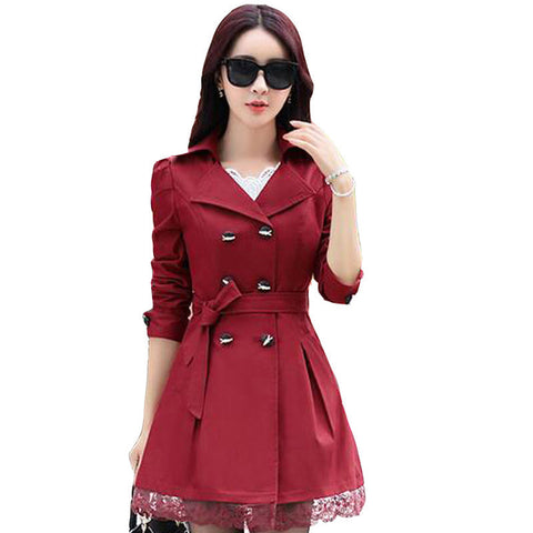 Ganador hot sale 2016 women trench coats new spring autumn overcoats fashion ladies lace slim style trench coats LS6679na - Dollar Bargains - 1