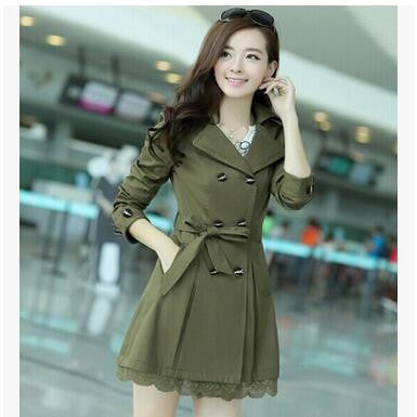 Ganador hot sale 2016 women trench coats new spring autumn overcoats fashion ladies lace slim style trench coats LS6679na - Dollar Bargains - 4