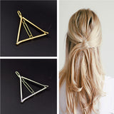 Vintage Gold/ Silver Color Metal Triangle Hairpin Girls' Hair Clips Women Fashion Hair Accessories-Dollar Bargains Online Shopping Australia