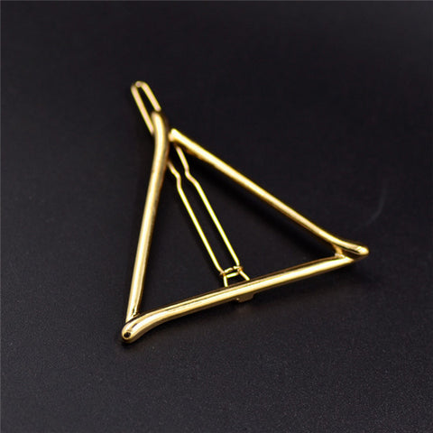 Vintage Gold/ Silver Color Metal Triangle Hairpin Girls' Hair Clips Women Fashion Hair Accessories - Dollar Bargains - 8