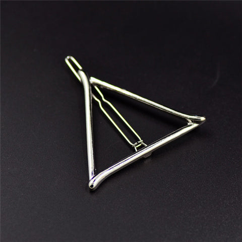Vintage Gold/ Silver Color Metal Triangle Hairpin Girls' Hair Clips Women Fashion Hair Accessories - Dollar Bargains - 12