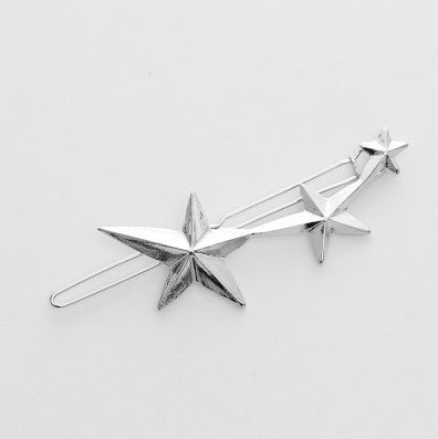 Vintage Gold/ Silver Color Metal Triangle Hairpin Girls' Hair Clips Women Fashion Hair Accessories - Dollar Bargains - 13
