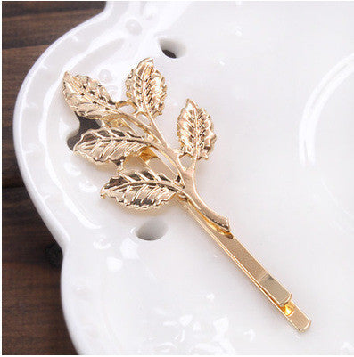 Vintage Gold/ Silver Color Metal Triangle Hairpin Girls' Hair Clips Women Fashion Hair Accessories - Dollar Bargains - 10