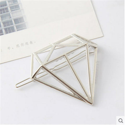 Vintage Gold/ Silver Color Metal Triangle Hairpin Girls' Hair Clips Women Fashion Hair Accessories - Dollar Bargains - 17
