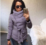 2016 winter jacket women Cotton down coat high collar with belt parkas for women winter 9 colors warm outerwear coats - Dollar Bargains - 2