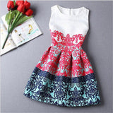 2015 Summer Style Dresses For Girl Butterfly Flower Printed Sleeveless Formal Girl Dresses Teenagers Party Dress Free Shipping - Dollar Bargains - 9