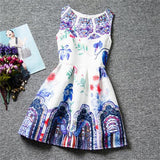 2015 Summer Style Dresses For Girl Butterfly Flower Printed Sleeveless Formal Girl Dresses Teenagers Party Dress Free Shipping - Dollar Bargains - 10