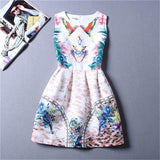 Summer Style Dresses For Girl Butterfly Flower Printed Sleeveless Formal Girl Dresses Teenagers Party Dress-Dollar Bargains Online Shopping Australia