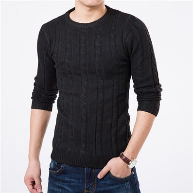 High Quality Pullover Men Fashion Round Collar Winter Sweater Men's Brand Slim Fit Pullovers Casual Sweater 7 Colors-Dollar Bargains Online Shopping Australia