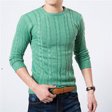 High Quality Pullover Men New Fashion Round Collar Winter Sweater Men's Brand Slim Fit Pullovers Casual Sweater 7 Colors-Dollar Bargains Online Shopping Australia