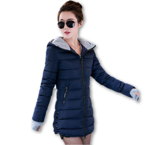 2016 New Wadded Jacket Female Women Winter Jacket Down Cotton Coat Slim Parkas Ladies Plus Size Womens Jackets And Coats TD2 - Dollar Bargains - 1