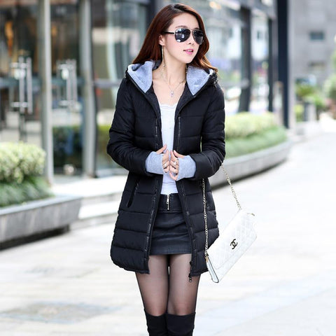 2016 New Wadded Jacket Female Women Winter Jacket Down Cotton Coat Slim Parkas Ladies Plus Size Womens Jackets And Coats TD2 - Dollar Bargains - 14