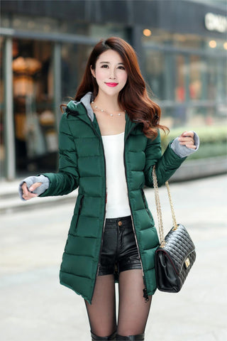 2016 New Wadded Jacket Female Women Winter Jacket Down Cotton Coat Slim Parkas Ladies Plus Size Womens Jackets And Coats TD2 - Dollar Bargains - 17