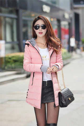 2016 New Wadded Jacket Female Women Winter Jacket Down Cotton Coat Slim Parkas Ladies Plus Size Womens Jackets And Coats TD2 - Dollar Bargains - 13