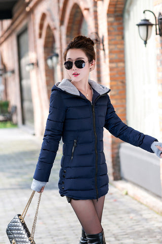 2016 New Wadded Jacket Female Women Winter Jacket Down Cotton Coat Slim Parkas Ladies Plus Size Womens Jackets And Coats TD2 - Dollar Bargains - 10