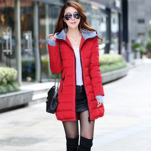 2016 New Wadded Jacket Female Women Winter Jacket Down Cotton Coat Slim Parkas Ladies Plus Size Womens Jackets And Coats TD2 - Dollar Bargains - 2