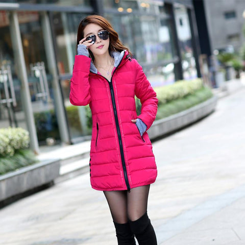 2016 New Wadded Jacket Female Women Winter Jacket Down Cotton Coat Slim Parkas Ladies Plus Size Womens Jackets And Coats TD2 - Dollar Bargains - 3