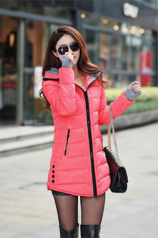 2016 New Wadded Jacket Female Women Winter Jacket Down Cotton Coat Slim Parkas Ladies Plus Size Womens Jackets And Coats TD2 - Dollar Bargains - 15