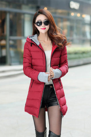 2016 New Wadded Jacket Female Women Winter Jacket Down Cotton Coat Slim Parkas Ladies Plus Size Womens Jackets And Coats TD2 - Dollar Bargains - 4