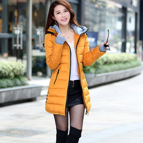 2016 New Wadded Jacket Female Women Winter Jacket Down Cotton Coat Slim Parkas Ladies Plus Size Womens Jackets And Coats TD2 - Dollar Bargains - 12