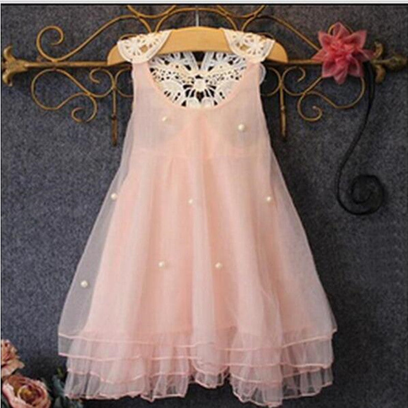 A005 Pink / 2TGirl Dress 2-14Y Baby Girl Clothes Summer Lace Flower Tutu Princess Kids Dresses For Girls,vestido infantil,Kid Clothes