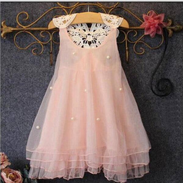 e9398016a Girl Dress 2-14Y Baby Girl Clothes Summer Lace Flower Tutu Princess Kids  Dresses For