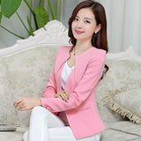 Spring Women Slim Blazer Coat New Fashion Casual Jacket Long Sleeve One Button Suit Ladies Blazers Work Wear SY1005-Dollar Bargains Online Shopping Australia