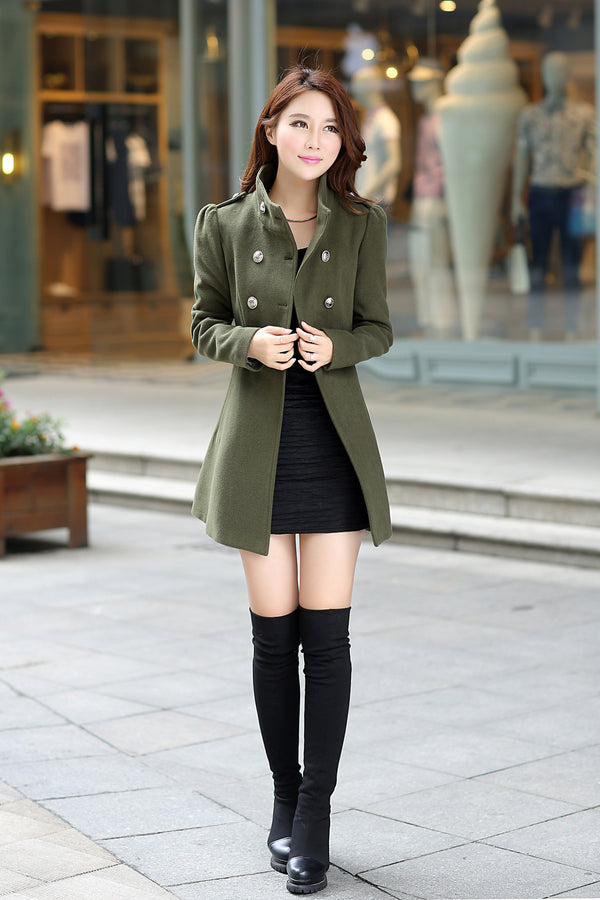 f4793ed62c63 Spring Coat Windbreaker Women Winter New Women's Korean Cultivating Code In  The Long Sleeved Coat Collar