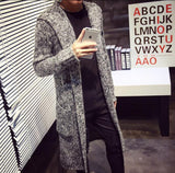 Autumn Winter Loose Long Mens Cardigans Sweaters New Fashion Big Size Jumpers Mens Hooded Sueter Knit Sweater Jersey-Dollar Bargains Online Shopping Australia