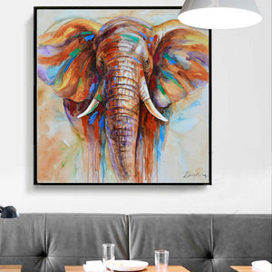 Wildlife Colorful Elephant Picture Canvas Print Plus 50% Oil Painting Home Decor Picture For Bedroom Industrial Loft Livingroom Unframed-Dollar Bargains Online Shopping Australia