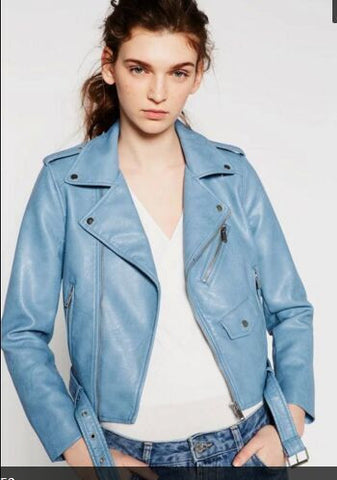 2016 Mujer Women Leather Jacket Xdg100 And The Wind Zipper Bright New Ladies Leather Coat Jacket Women 0331 - Dollar Bargains - 3