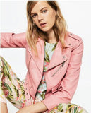 Mujer Women Leather Jacket Xdg100 And The Wind Zipper Bright New Ladies Leather Coat Jacket Women 0331-Dollar Bargains Online Shopping Australia