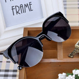 Fashion Vintage Retro Cat Eye Round Sunglasses Fashion Stylish Semi-Rim Eyewear Eyeglasses-Dollar Bargains Online Shopping Australia