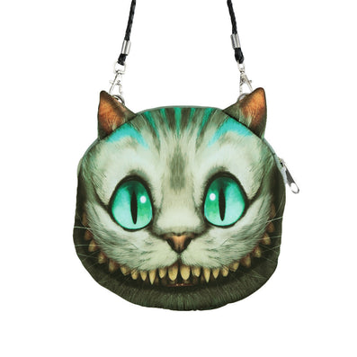 Women Cute Shoulder Bag Cat Face Pouch Bag Cartoon Print Zipper Closure Messenger Bag Coin Purse Clutch Bag-Dollar Bargains Online Shopping Australia