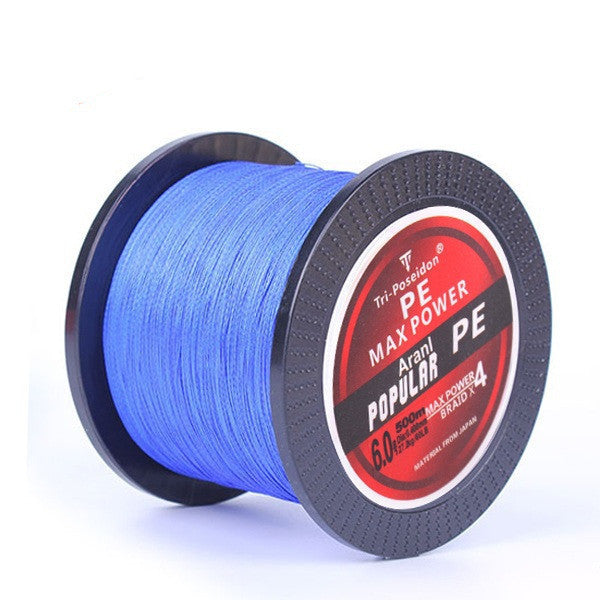 Blue / 1.5500M SeaKnight Brand Tri-Poseidon Series Super Strong Japan Multifilament PE Braided Fishing Line 8 10 20 30 40 60LB