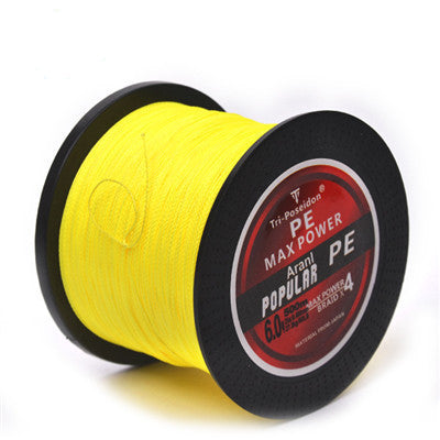 Yellow / 1.5500M SeaKnight Brand Tri-Poseidon Series Super Strong Japan Multifilament PE Braided Fishing Line 8 10 20 30 40 60LB