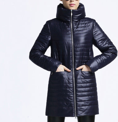 Women Thin Cotton-padded jacket coat spring autumn High Quality Quilting Parka leisure new European Style outwear-Dollar Bargains Online Shopping Australia
