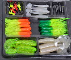 SeaKnight 35 soft bait small 10 lead head hook lure combination set soft fishing lure set soft bait fishing tackle-Dollar Bargains Online Shopping Australia