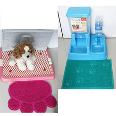 Pet Dog Puppy Cat Feeding Mat Pad Cute Paw PVC Bed Dish Bowl Food Water Feed Placemat Wipe Clean Pet Supplies PC674516-Dollar Bargains Online Shopping Australia