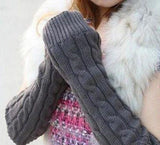 Women's Men's Long Knitted Crochet Fingerless Braided Arm Warmer Gloves 1T58-Dollar Bargains Online Shopping Australia